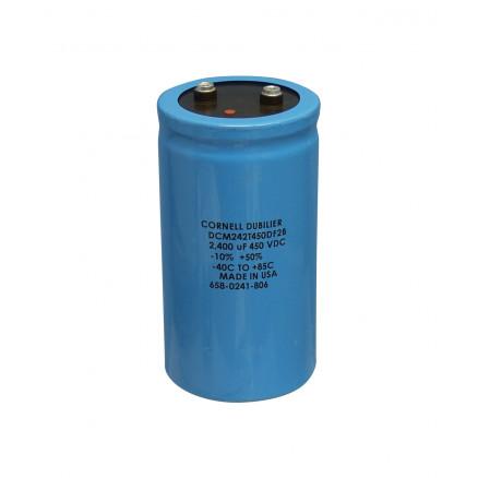 DCM242T450 Capacitor, electrolytic, 2400uf 450vdc,Computer Grade.: CDE