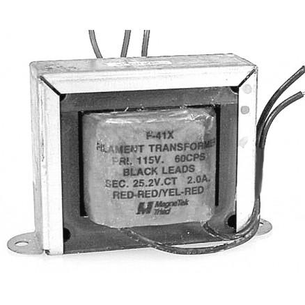 F-41X  MagneTek/Triad, Filament Transformer, 25.2 vct, 2 amp