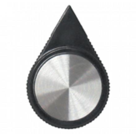 KNOB1A Knob, Black w/Arrow Pointer