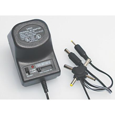 34021 Universal AC Adapter, 1.5-12v, 300ma max, Selectable polarity, 6 plugs, PH-62098