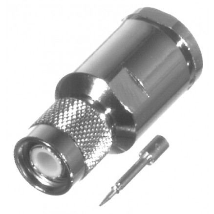 RFT1201-SI TNC Male Clamp Connector, Cable Group: I, RFI