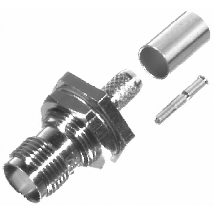 RFT1213-X TNC Female Crimp Bulkhead Connector, RF Industries