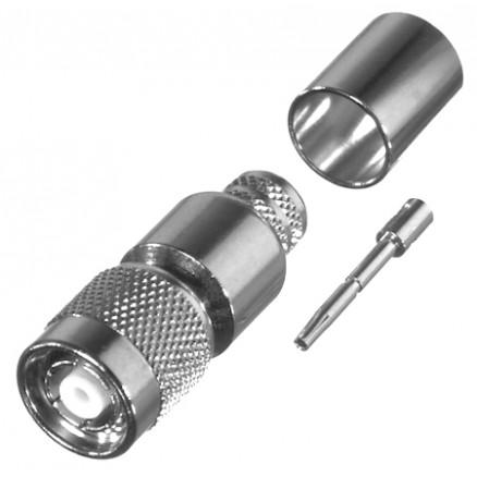 RP1202-I TNC Reverse Polarity Male Crimp Connector, Cable Group I. RFI