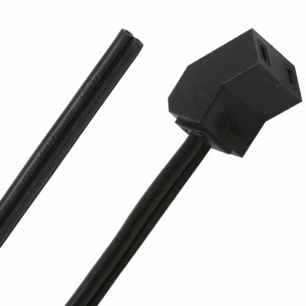 """A2-20 Fan Power Cord, 24"""" with 45 Degree Angle, Qualtek"""