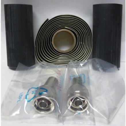 1-AMP5875-29N-E  Type-N Male Crimp Connector kit (RG213 / RG8 / RG393), 2 connectors w/ Heatshrink & Coax Seal, RF Parts