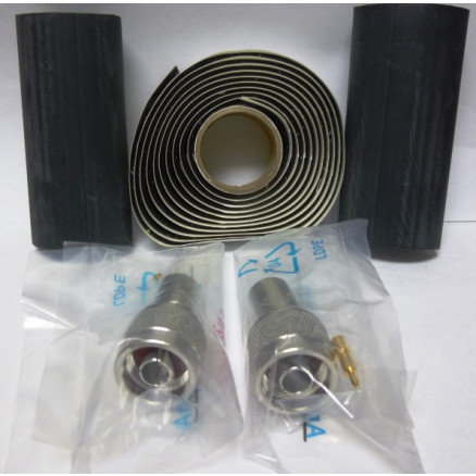 1-AMP5875-29N-I  Type-N Male Crimp Connector kit (LMR400 / 9913), 2 connectors w/ Heatshrink & Coax Seal, RF Parts