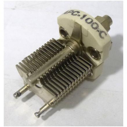 APC100C Variable Capacitor, Panel Mount, 5.5-100 pf, Hammarlund