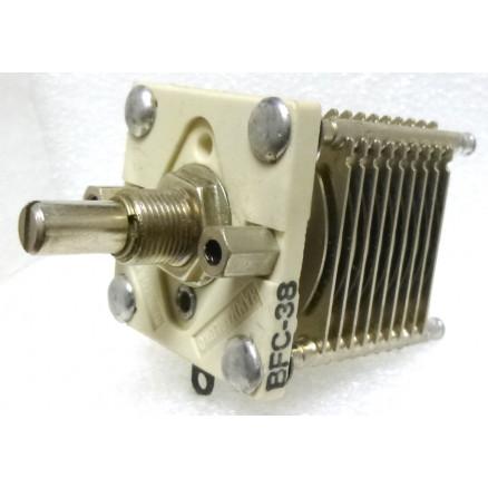 BFC38 Variable Capacitor, Panel Mount, 6.2-40.1 pf, Hammarlund