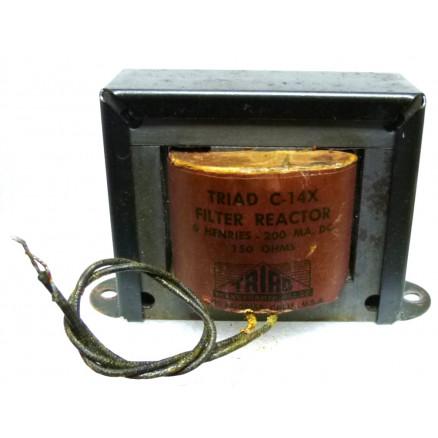 C-14X TRIAD Filter Reactor 6 Henries - 200 MA DC 150 OHMS (NOS)