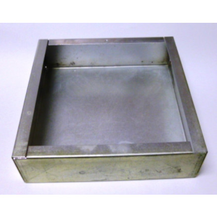 """CHAS7X7X2-S Chassis, steel, 7""""x7""""x2"""", Cadmium plated, Dalco MFG."""
