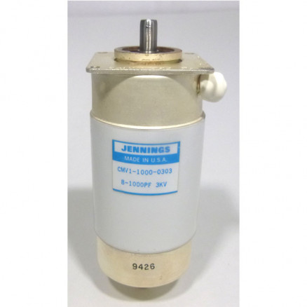 CMV1-1000-0303 Vacuum Variable Capacitor, 8-1000pf, 3kv Peak, Jennings (Clean Used)