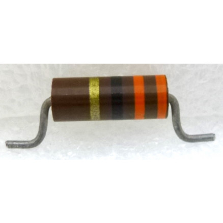 CR1-33CL  Carbon Resistor, 33 ohm 1 watt (Cut Leads)