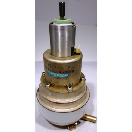 CVCC-2000-6N525  Vacuum Variable Capacitor, 25-2000pf, 6 kv (5kv working Volts), Jennings (Clean used)