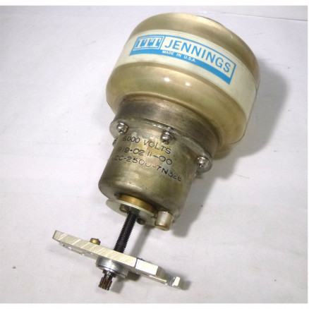 CVCC-2500-7N326  Vacuum Variable Capacitor, 20-2500pf, 6 kv (5kv working Volts), Jennings (Clean used)