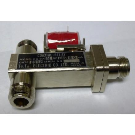 CX600N-24 Coaxial Relay, SPDT, Type-N (3-Type N Female), 24 volt, Tohtsu