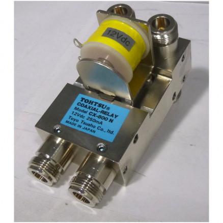 CX800N Tohtsu Coaxial relay DPDT Type-N (6 female), 12 vdc