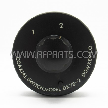 DK78-2 Dow-Key SPDT Manual Two Position UHF Coax Switch (Pull)