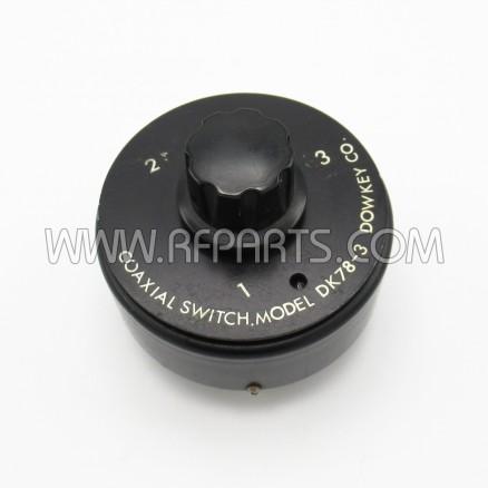 DK78-3 Dow-Key SP3T Manual Three Position UHF Coax Switch (Pull)