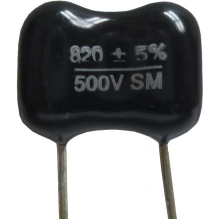 DM19-820 - 820pf 500v Mica Capacitor