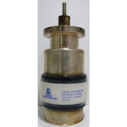 EL7.5-200S-333 Vacuum Variable Capacitor, 10-205pf, 7.5kv Peak, Energy Labs (Clean Used)