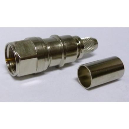 EZ240FMH-75  Type-F Male Crimp Connector, LMR240-75, Times