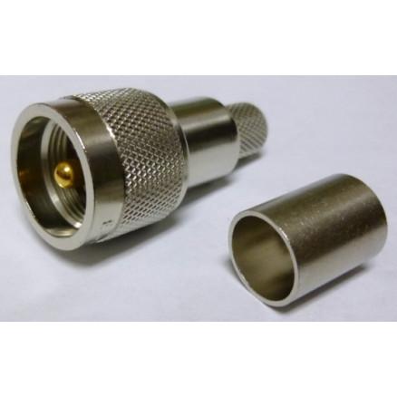 EZ400UM UHF Male Crimp Connector (PL259), Cable Group: I, Times