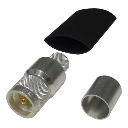 EZ600UM UHF Male Crimp Connector, (PL259) LMR600, Cable Group: L2, Times