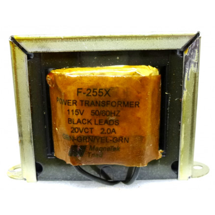 F-255X Transformer, 20 vct, 2 amp,  Magnatek/Triad