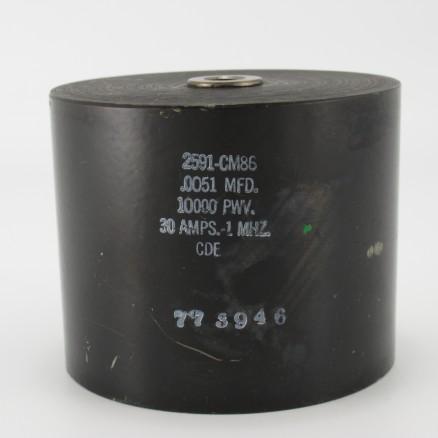 2591-CM86, Capacitance .0051mfd, Voltage 10kv, Amps 30, Type CM86