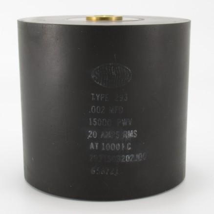 293150B202J00, Capacitance .002mfd, Voltage 15kv, Amps 20, Type 293(NOS)