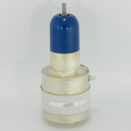 CSVF-500-15 Jennings, Variable Ceramic Capacitor, 12-500pf at 15Kv, Pull