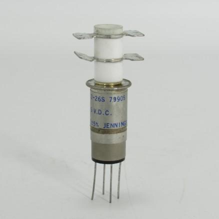 RF72-26N1107 Jennings Ceramic Relay, 26.5 Volt (Used)