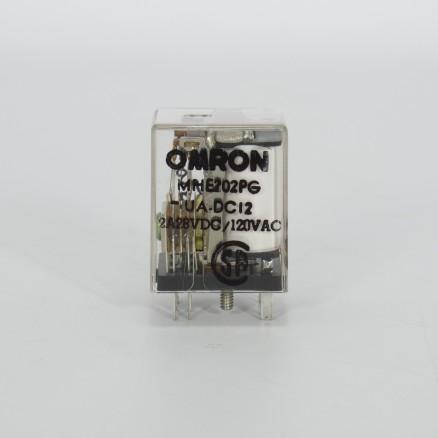 MHE202PG-UA-DC12 Omron DPDT Relay, 28V DC, 120V AC, NSN:6130-01-282-6243 (NOS)