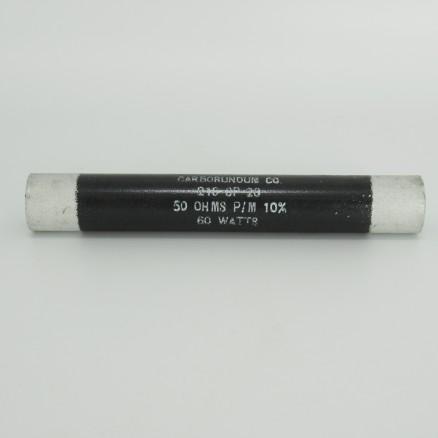 218SP-28 Carborundum 60 Watt,50 Ohm Non-inductive Ceramic Resistor (Pull)