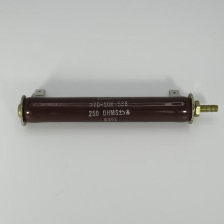 270-50K-538 Ohmite, 250Ω 50w, Tolerance 5%, Vitreous Enamel (NOS)