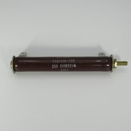 270-50K-538 Ohmite, 250Ω 50w, Tolerance 5%, Vitreous Enamel (NOS)