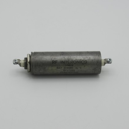 RF1710G Intertronics RFI / EMI feedthru filter. Screw terminals. 15 amp, 125 vac or 400 vdc (NOS)