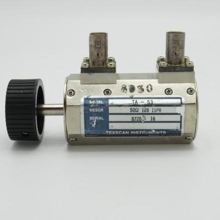 TA-53 BNC Trilithic Rotary Attenuator, 0-1dB, BNC Female/Female (Clean Used)