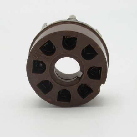 SK8 8 Pin Tube Socket, Phenolic, PCB Mount, Made in USA