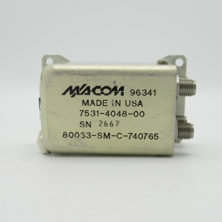 MA7531-S048 Microwave Associates Coax Relay, DPDT, 28vdc, SMA Female (4 Connections) DC-18 GHz (Used Great Condition)