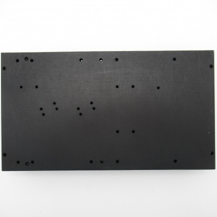 HSBLK-9.8  Heatsink, Black Anodized Aluminum 5.5 x 9.875 x 1.25, Multiple Pre-drilled Holes