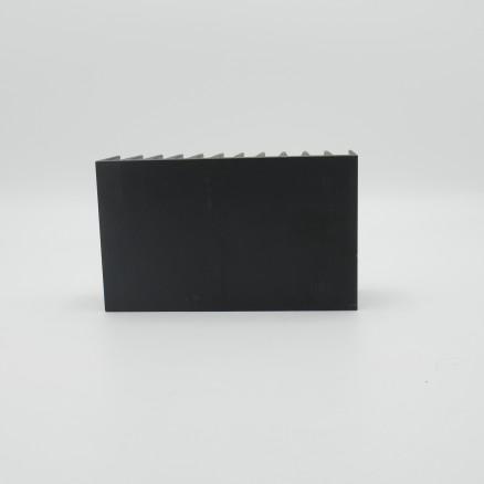 """HSBLK2  Heatsink, Black Anodized Aluminum 5""""x 3""""x1.75"""" No holes"""