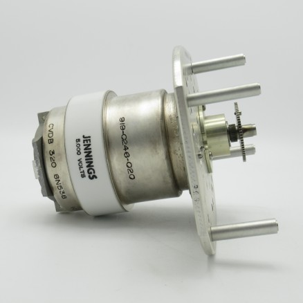 CVDB-320-6N538 Jennings 10-320pF 5kV Variable Vacuum Capacitor (Used Excellent Condition)
