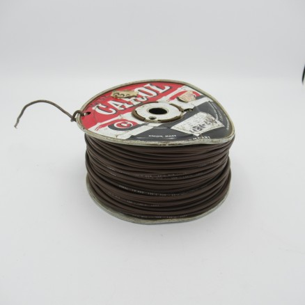 18 AWG 1/32, 16 Strand Carol Cable Company Bare Copper, 600V Hook-up Wire (Brown Jacket)