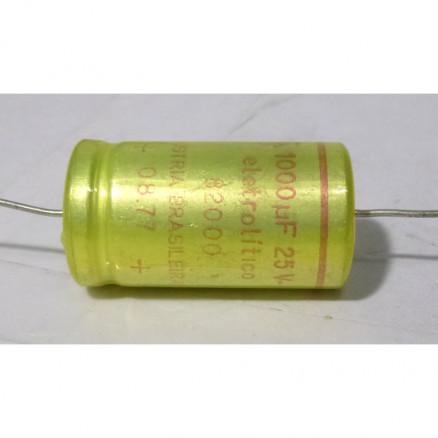 KEA601 Axial Lead Capacitor, 1000uf @25v INDUSTRIA BRASILEIRA