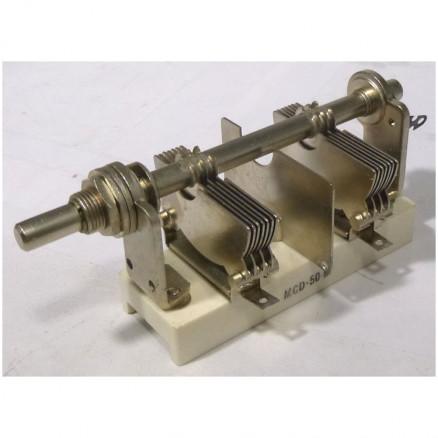 MCD100S Variable Capacitor, Panel Mount, 7- 100 pf, Hammarlund