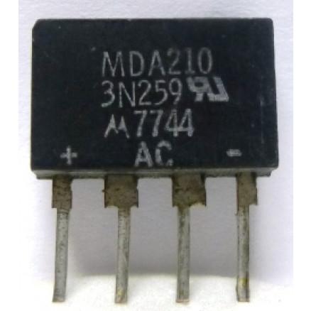 MDA210  Diode, Bridge Rectifier MDA210 / 3N259, Motorola