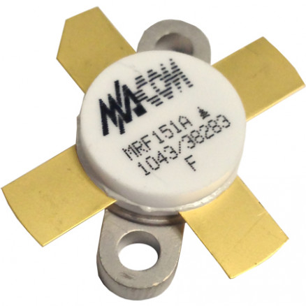 MRF151A Transistor, RF Power Field-Effect Transistor 150W, 50V, 175MHz, N-Channel Broadband MOSFET, M/A-COM