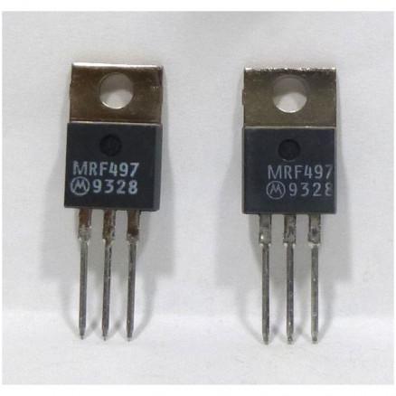 MRF497MP NPN Silicon RF Power Transistor, Matched Pair, 40 Watt, 50 MHz, 12  volt, Motorola (Can replace MRF477)