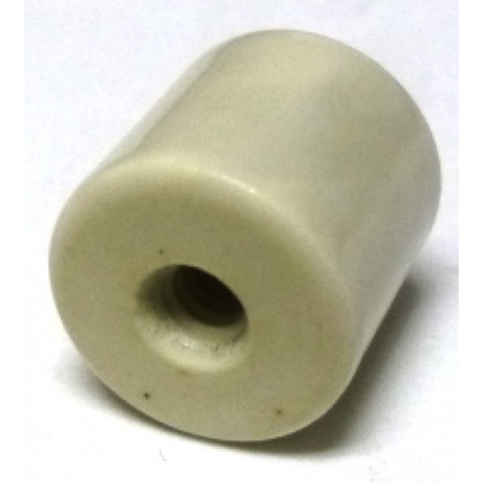 "NL523W02-050 Standoff Insulator, Glazed Ceramic, 1/2"" Long x 1/2"" Diameter with Threaded Mounting Holes"